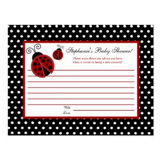 Writable Advice Card Red Ladybug