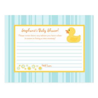 Writable Advice Card Rubber Ducky Bubbles