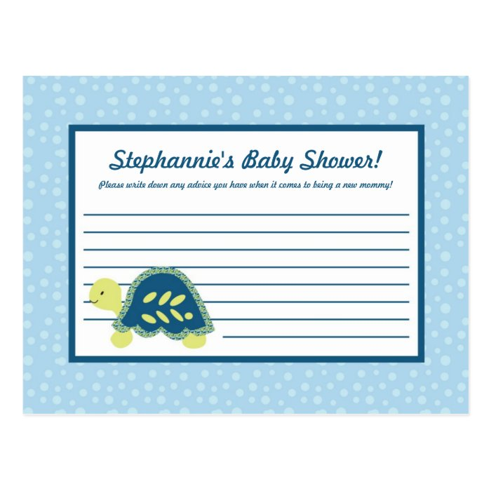 Writable Advice Card Turtle Reef Ocean Sea Turtle
