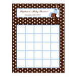 Writable Bingo Card Blue Mod Mom Polka Dots Postcard