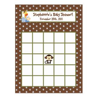 Writable Bingo Card Jungle Play