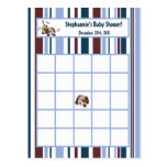 Writable Bingo Card Lil League Puppy Dog Postcard