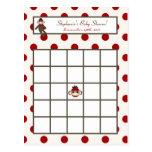 Writable Bingo Card Red Sock Monkey Post Cards