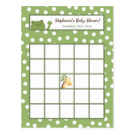 Writable Bingo Card Safari Jungle Animals Green Postcard
