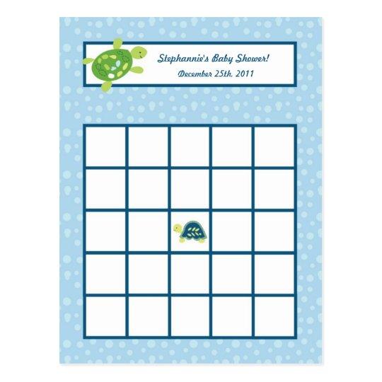 Writable Bingo Card Turtle Reef Ocean Sea Turtle