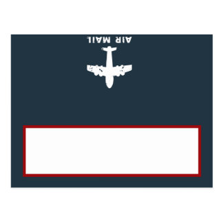 Writable Place Card Airplane Flight  Blue/Red Flyi