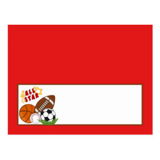 Writable Place Card All-Star Red