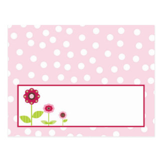 Writable Place Card Berry Garden Pink Flower