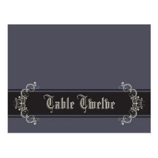 Writable Place Card Black Tie Affair Gray Elegant Postcards