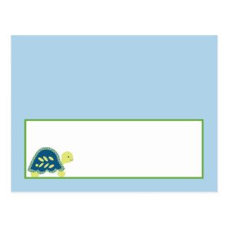Writable Place Card Blue Sea Turtles