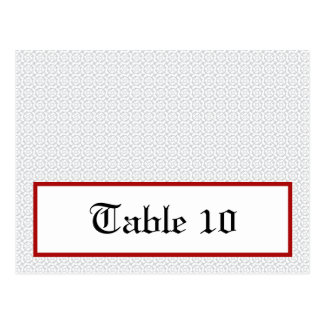 Writable Place Card Gray Red Formal Print