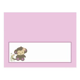 Writable Place Card Jacana Girl Jungle Zoo Animal