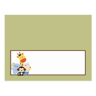 Writable Place Card Jungle Play