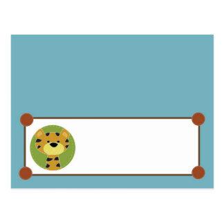 Writable Place Card Jungle Tales Safari