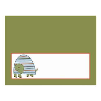 Writable Place Card Laguna Beach Turtle Frog Pond