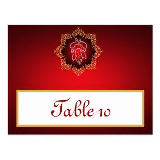 Writable Place Card Lord Ganesha/Hindu Red Spiritu Postcard