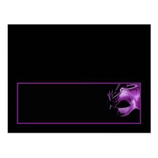 Writable Place Card MIS XV Purple Lilac Black Postcard