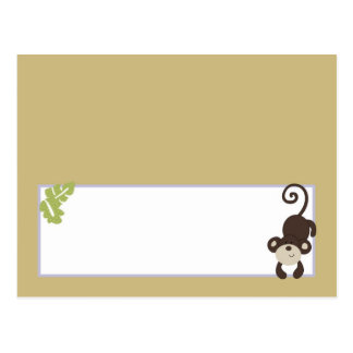 Writable Place Card Monkey Time Zoo Animal