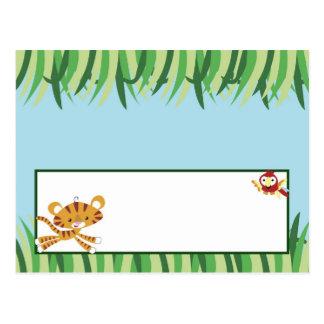 Writable Place Card Rain-forest Jungle Animal
