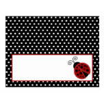 Writable Place Card Red Ladybug Postcard