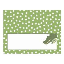 Writable Place Card Safari Jungle Alligator