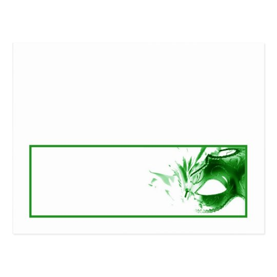 Writable Place Card Sweet 16 Green Party