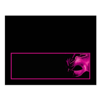 Writable Place Card Sweet 16 Pink Black Party Postcards