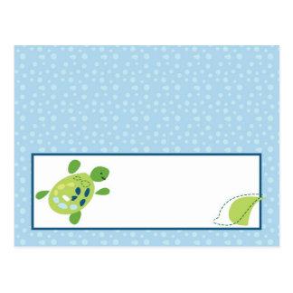 Writable Place Card Turtle Reef Ocean Sea Turtle