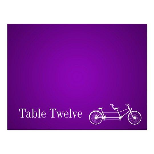 Writable Place Card Whimsical Purple Double Bike