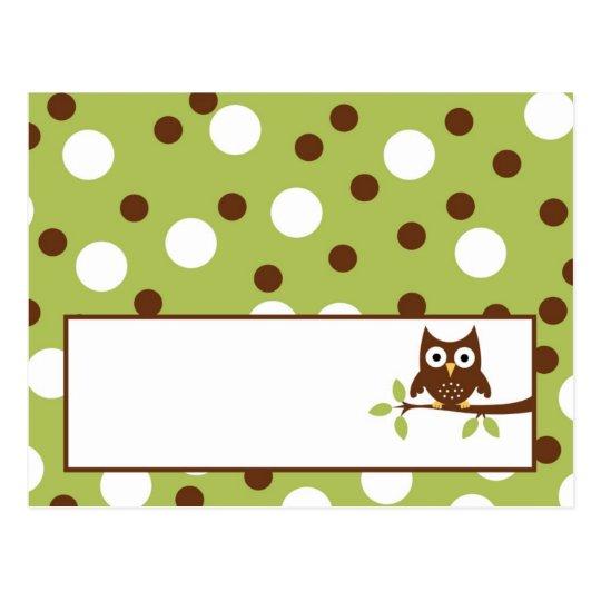 Writable Place Card Woodland Friends Owl
