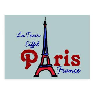 write about Eiffel Tower Paris Postcard