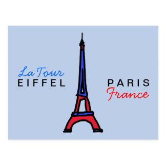 write about Paris France Postcard