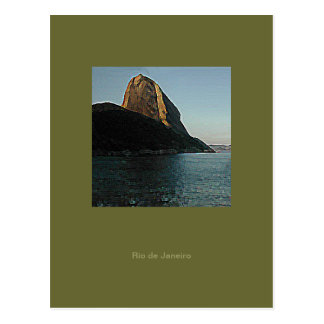 Write about Rio the SugarLoaf Mountain Postcard