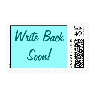 Write Back Soon! postage stamp