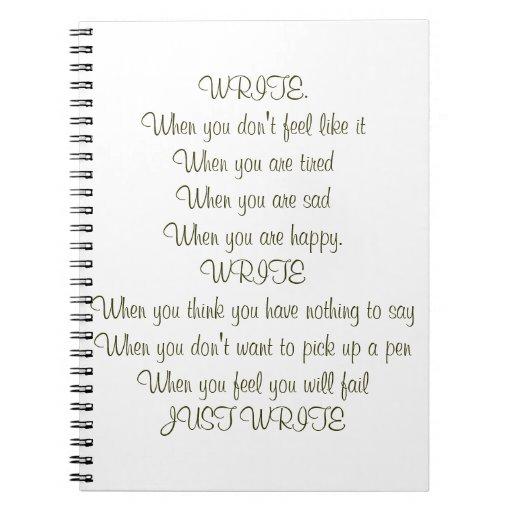 Write! Blank Book Note Book