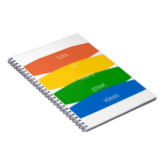 Write Down Your Great Ideas Notebook