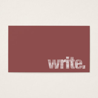Write: Freelance Writer, Author Marsala Business Card