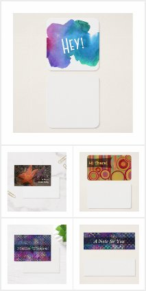 Write Fun Little Notes on Blank Business Cards