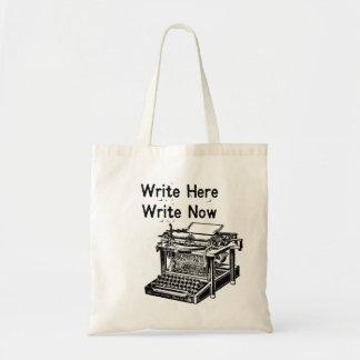 Write Here Write Now Tote Bag