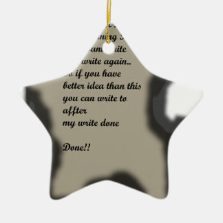 Write in Burning Paper Ilustration Ceramic Ornament