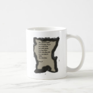 Write in Burning Paper Ilustration Coffee Mug