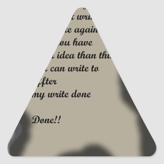 Write in Burning Paper Ilustration Triangle Sticker
