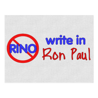 WRITE IN RON PAUL POSTCARD
