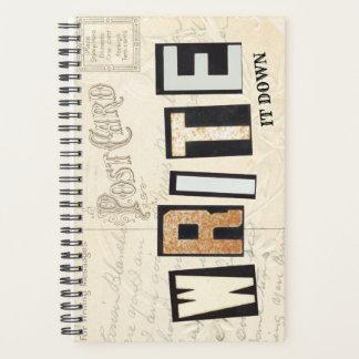 WRITE it down Church Letters Planner Alphabet