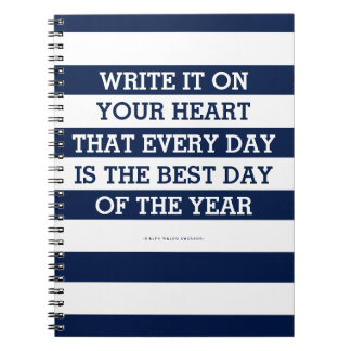 Write It On Your Heart Emerson Quote Notebook