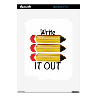 Write It Out iPad 2 Decals