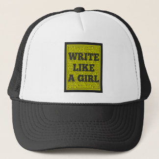 Write Like a Girl Charcoal Trucker Hat