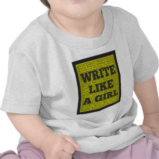Write Like a Girl Charcoal T Shirt