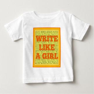 Write Like a Girl Citrus Baby T-Shirt
