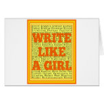 Write Like a Girl Citrus Greeting Card